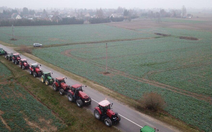 Ūkininkų protestas Kauno rajone, Vandžiogaloje