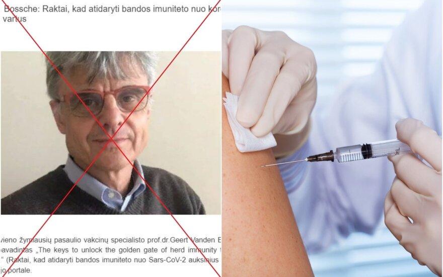 Kairėje – virusologu save vadinantis veterinaras iš Belgijos Geert Vanden Bossche