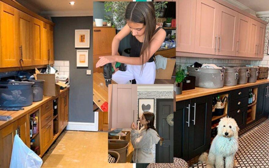 Nuobodžiaujanti paauglė padarė namų remontą /Foto: bananashed_home