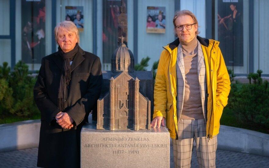 Vilniuje atidengtas atminimo ženklas nusipelniusiam architektui Antanui Vivulskiui