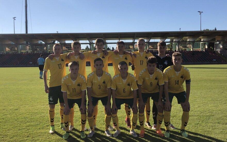 Lietuvos jaunių futbolo rinktinė neprilygo Moldovai