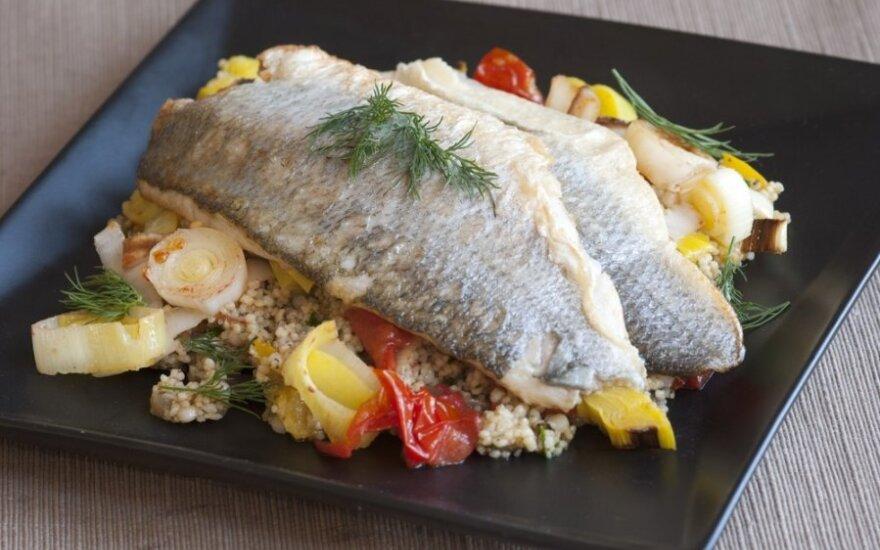 Žuvis su kuskusu