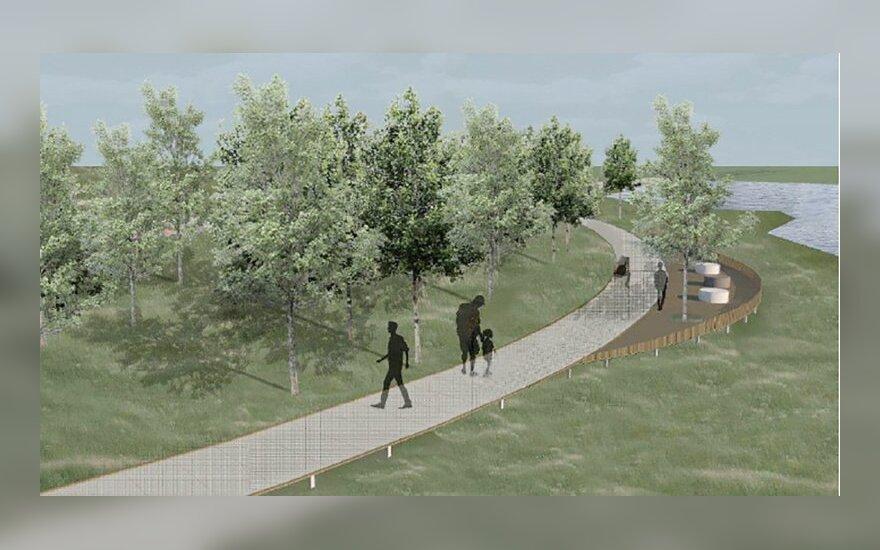 Šventosios upės pakrantė Ukmergėje pasikeis akivaizdžiai: atsiras ir pėsčiųjų takas