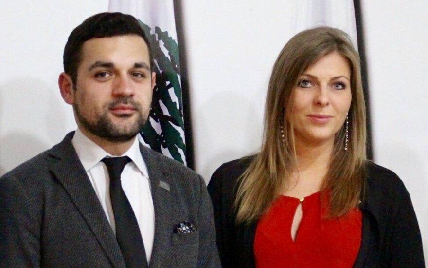 Gintarė Narkevičiūtė (TS-LKD, Lithuania) and Bashir Wardini (IYDU Chairman, Lebanon)