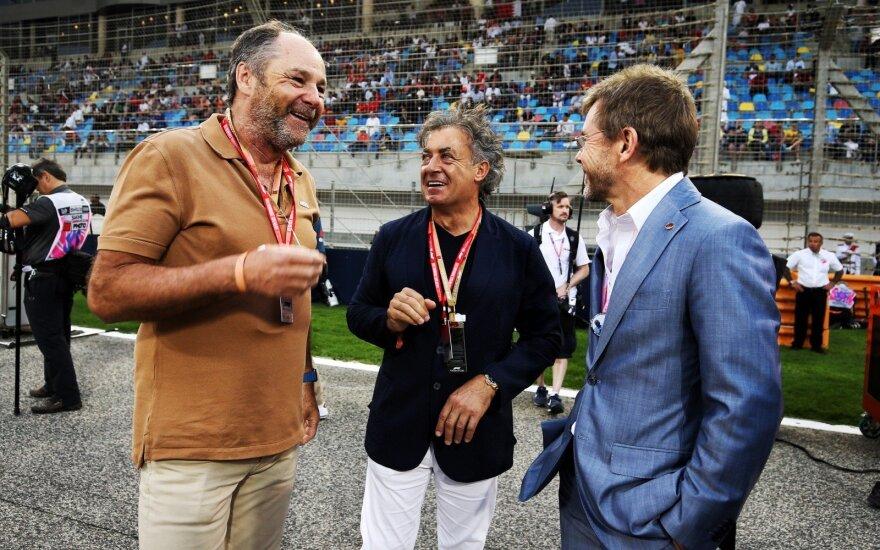Gerhardas Bergeris (kairėje), Jeanas Alesi, Paulas Stewartas