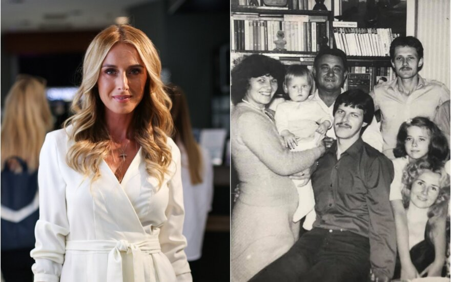 Violeta Repčenkaitė ir jos šeima / Foto: Delfi, asm.archyvo