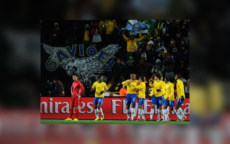Brazilijos futbolininkai iškovojo pergalę