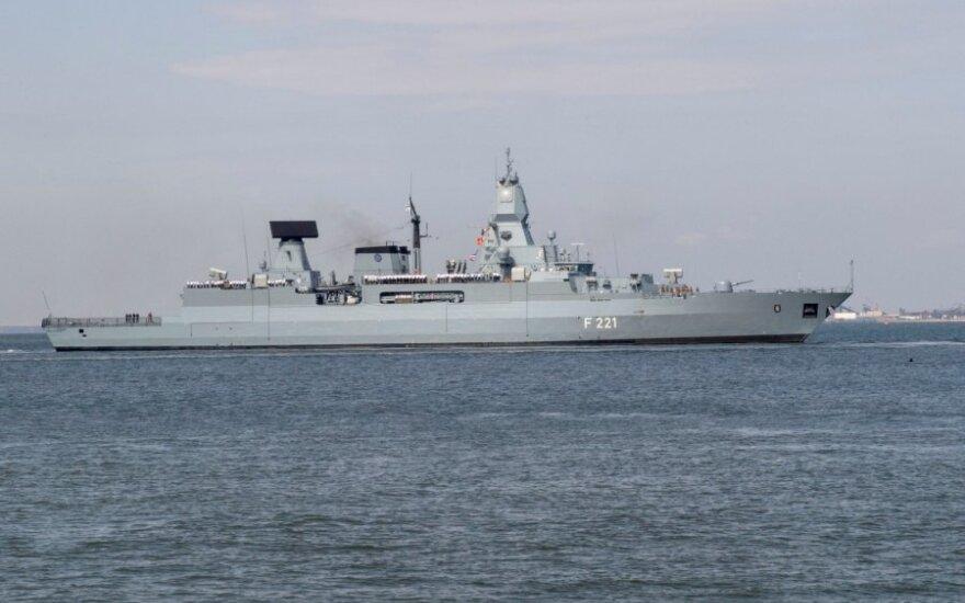 """Vokiečių karo laivas """"FGS Hessen"""""""