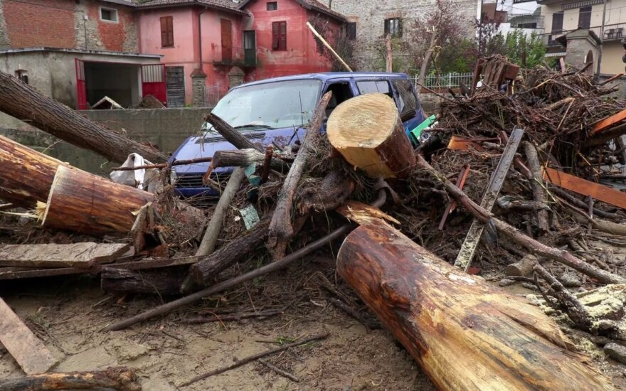 Staigūs potvyniai smogė šiaurės Italijai