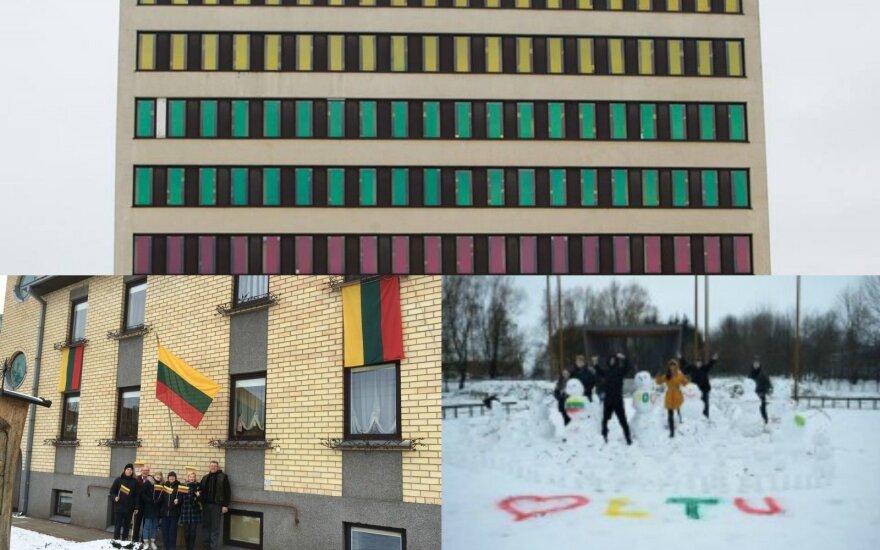 Lietuva švenčia: trispalvė vėliava puošia vis daugiau vietų