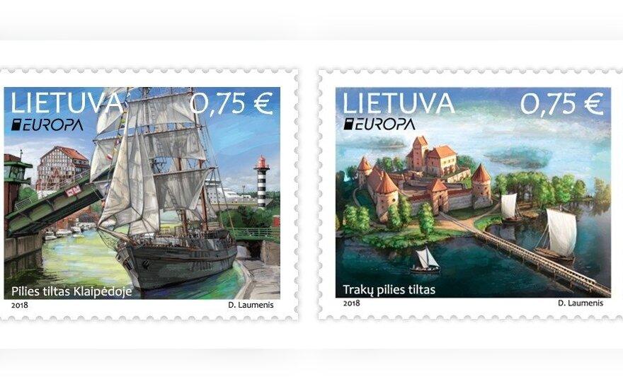 Lietuvos paštas į apyvartą išleidžia du naujus pašto ženklus