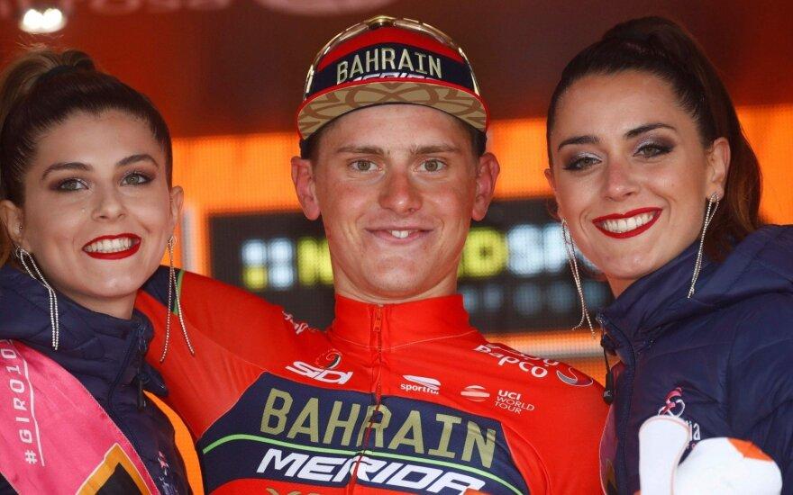 """Dešimtą """"Giro d'Italia"""" etapą laimėjo slovėnas Mohoričius"""