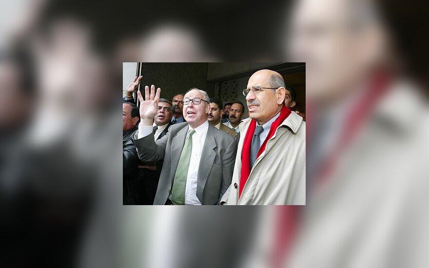 Mohammed el Baradei ir Hans Blix