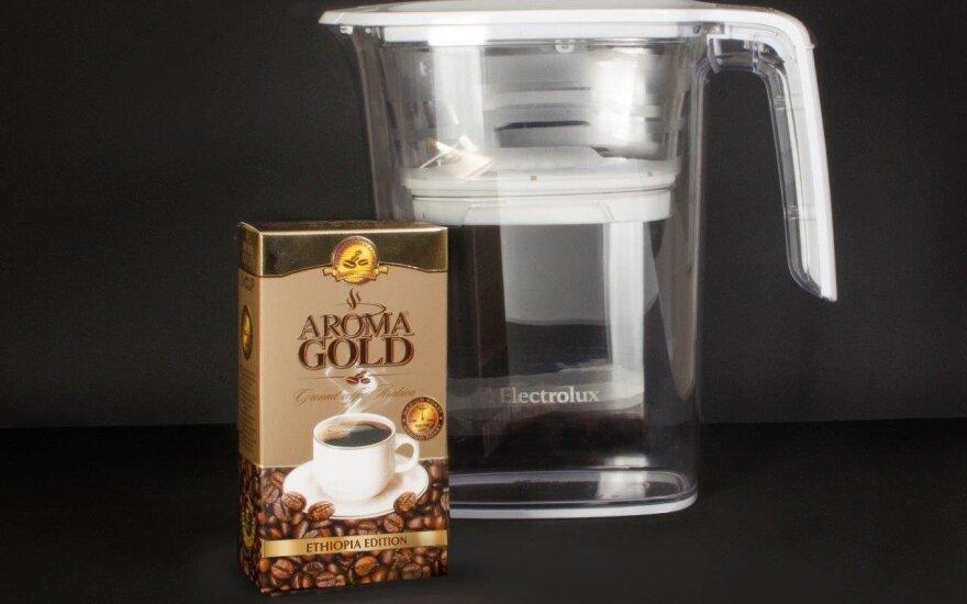 Kava AROMA GOLD ETHIOPIA EDITION ir vandens filtras ELECTROLUX