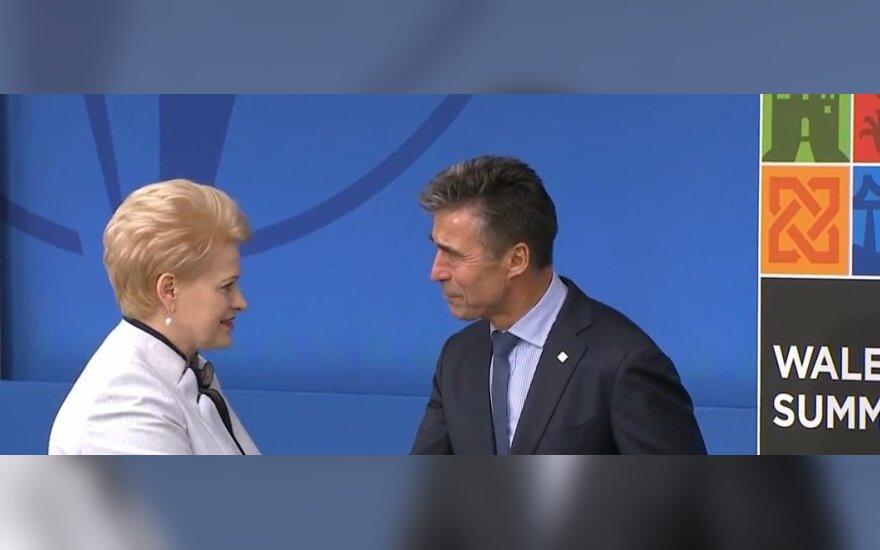 Dalia Grybauskaitė, Andersas Foghas Rasmussenas