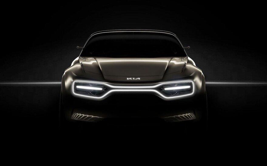 """""""Kia"""" Ženevos automobilių parodoje parodys išskirtinį koncepcinį elektromobilį"""