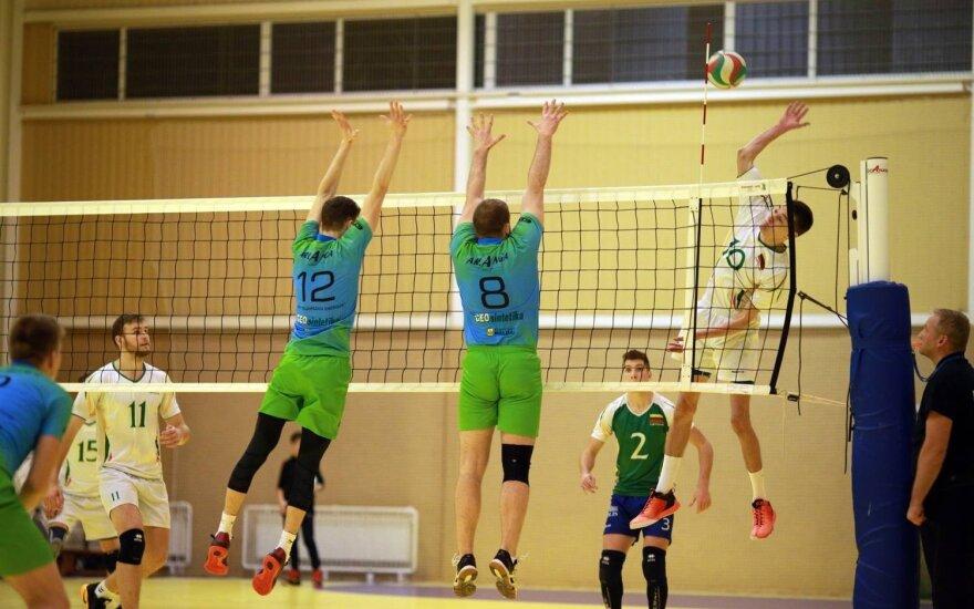 """Vilniaus kolegija-Flamingo Volley-SM Tauras"""