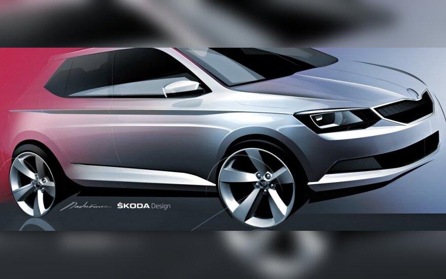 Naujosios Škoda Fabia eskizas