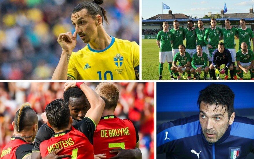 Zlatanas Ibrahimovičius, Airijos rinktinė, Belgijos rinktinė. Gianluigi Buffonas (AFP, LaPresse, Reuters-Scanpix nuotr.)
