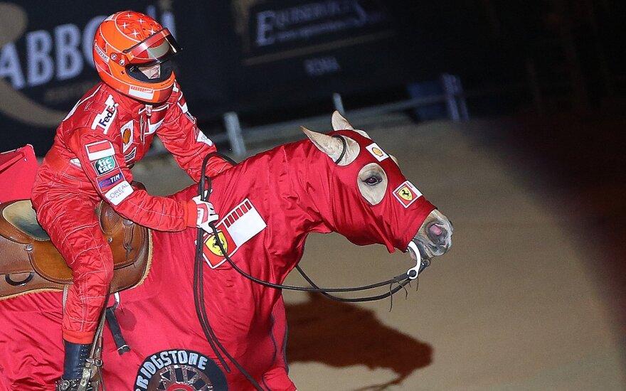 Gina Maria Schumacher žirgų sporto varžybose Veronoje