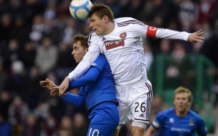 Marius Žaliūkas kovoja dėl kamuolio