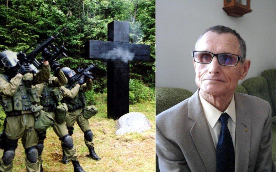 Autorius rašė ir apie tragiškai žuvusius partizanus, kuriems dabar atiduodame pagarbą.