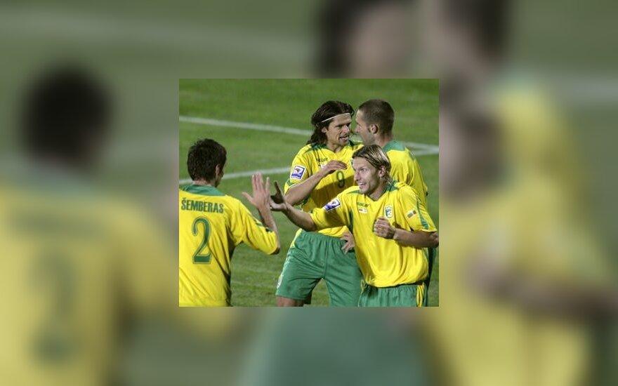 Lietuvos futbolininkus reitinge kelia senos pergalės