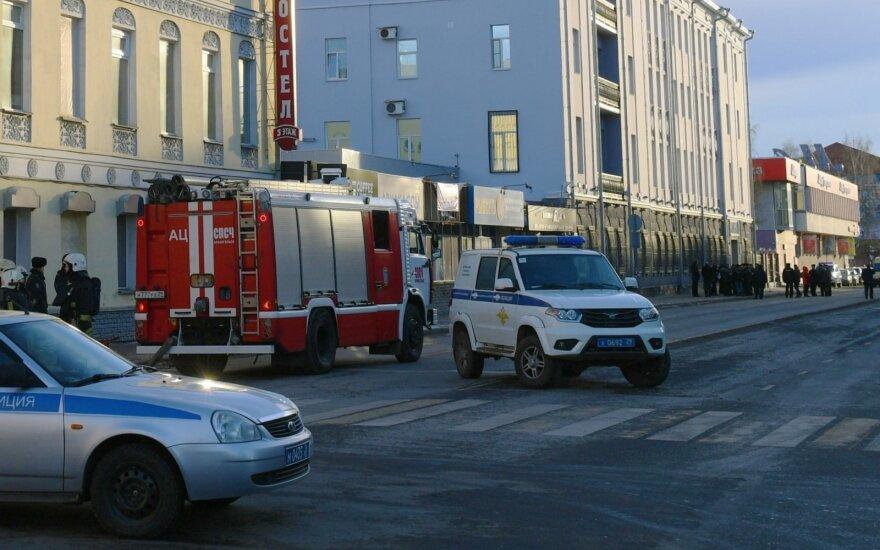 Rusijoje prie įėjimo į FSB skyrių nugriaudėjo sprogimas, tiriamas teroro aktas