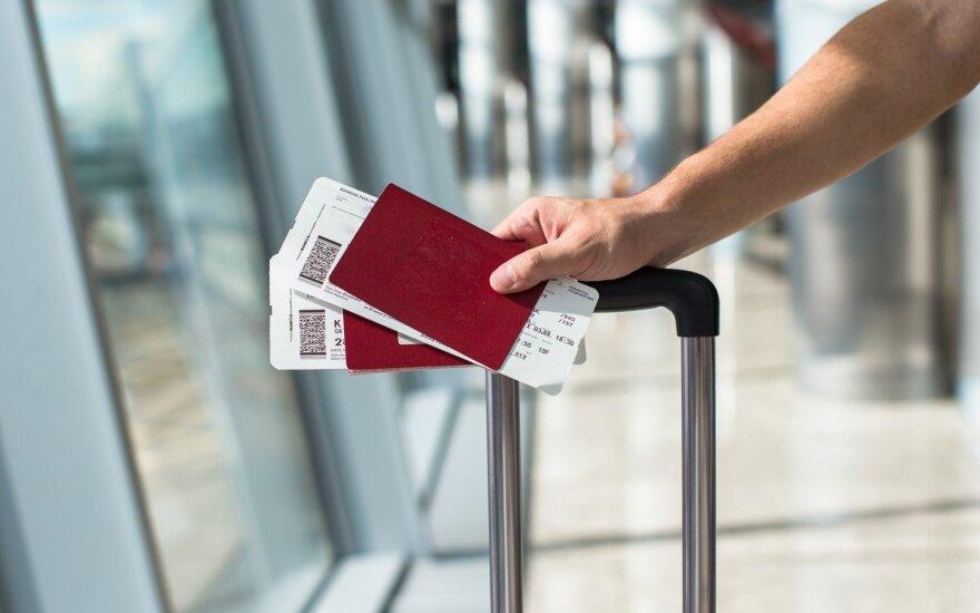 Sukčius visus metus naudojosi oro uosto paslaugomis su tuo pačiu bilietu