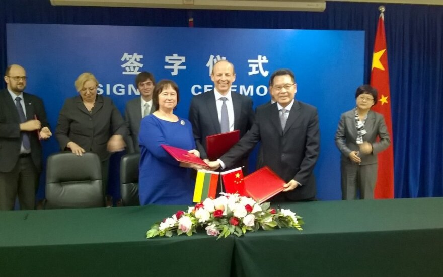Lietuvos delegacijos susitikimas su Kinijos pareigūnais