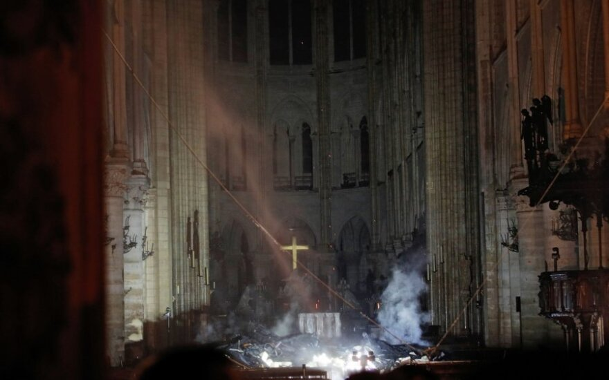Paryžiaus Švč. Dievo Motinos katedros vidus