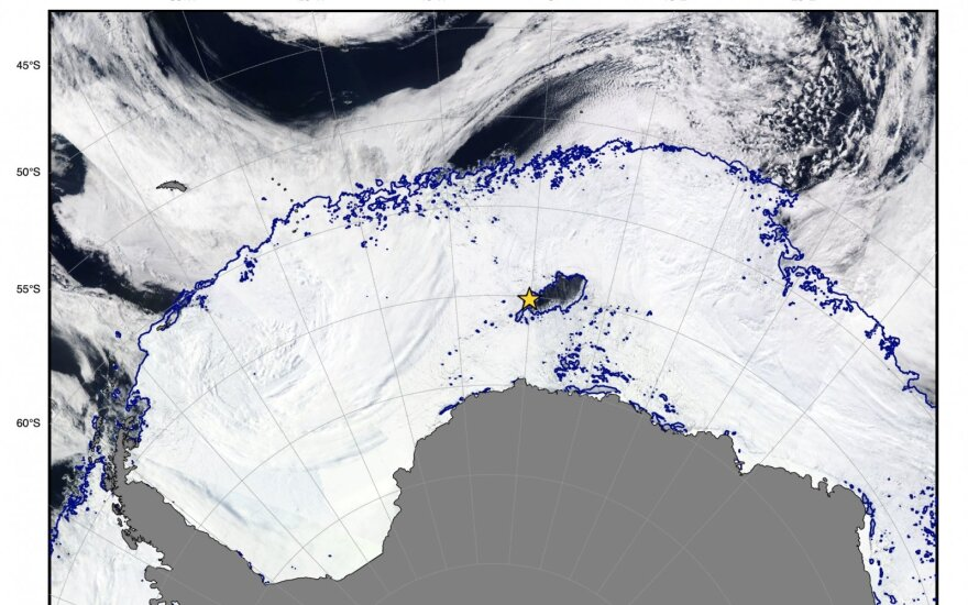 MODIS-Aqua/ NASA nuotr., AMSR2 ASI/Bremeno universiteto informacija
