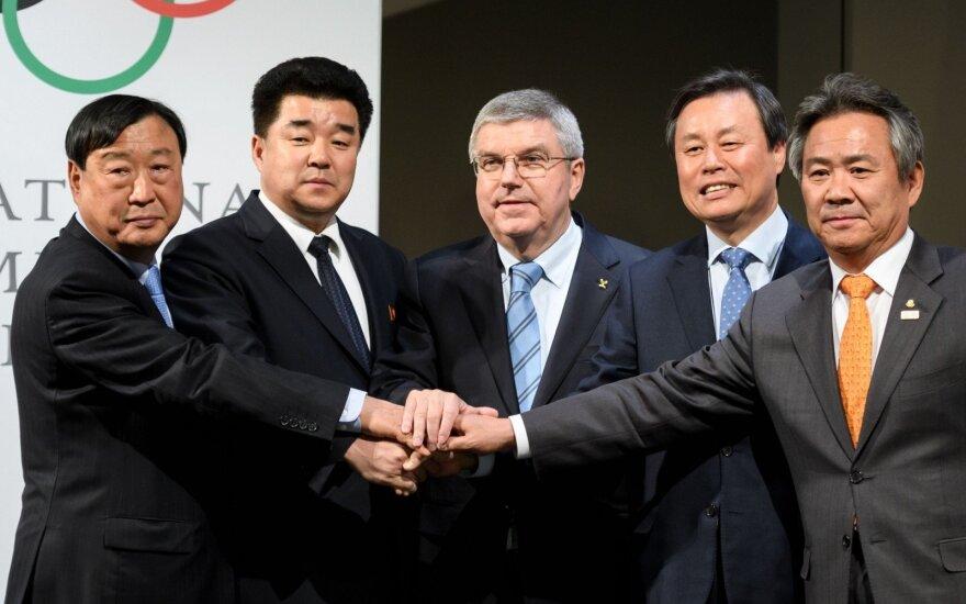 Thomas Bachas ir Šiaurės bei Pietų Korėjų atstovai