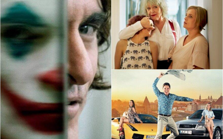 """Kadrai iš filmų """"Pats sau milijonierius"""", """"Joker"""" """"Ir visi jų vyrai"""""""