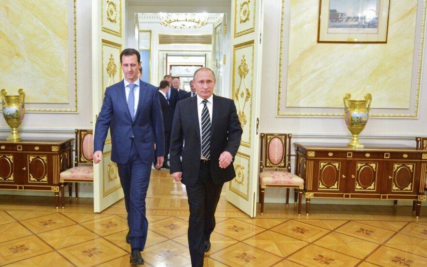 Basharas al Assadas ir Vladimiras Putinas
