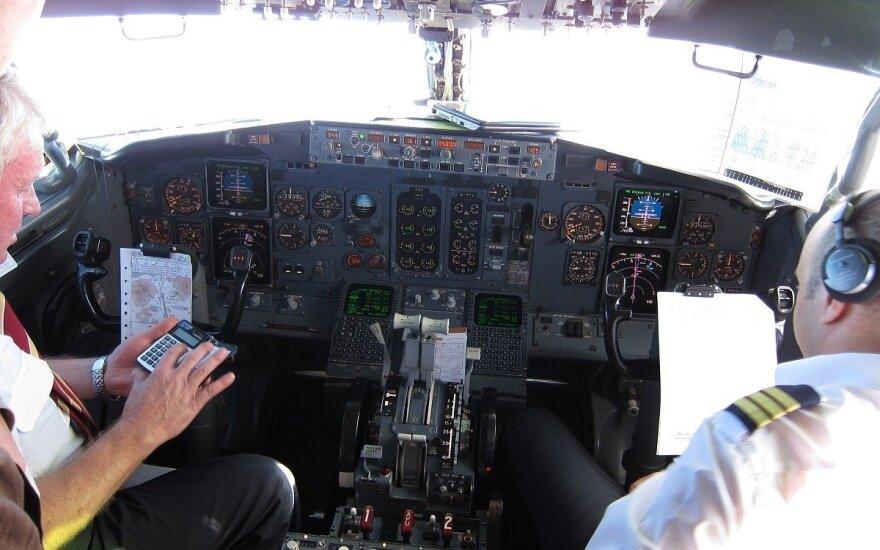 Lėktuvo pilotų kabina