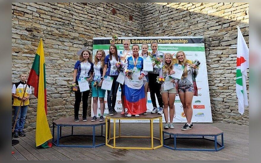 Lietuvos merginoms - pasaulio orientavimosi sporto kalnų dviračiais čempionato bronza