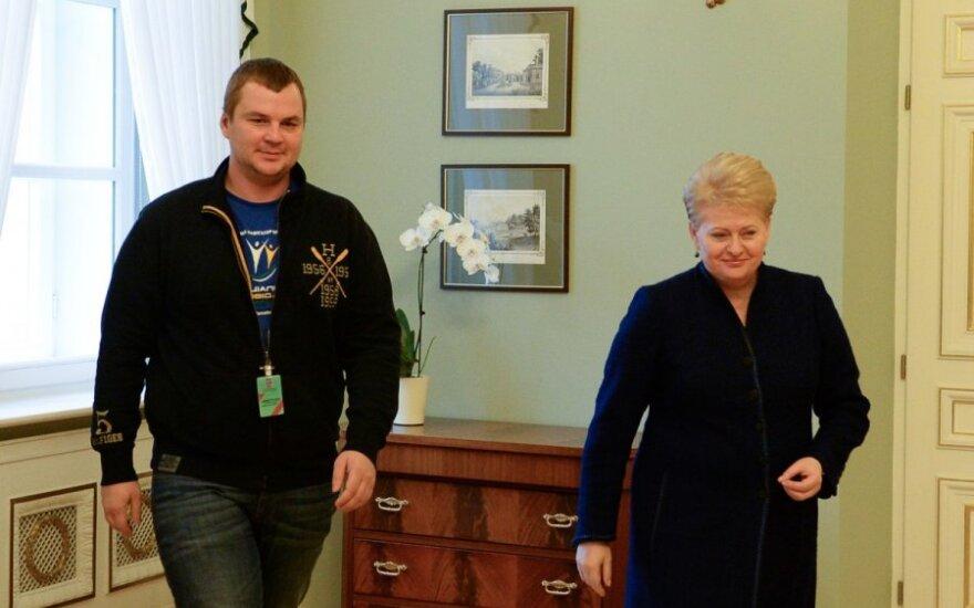 D. Grybauskaitė priėmė D. Bulatovą
