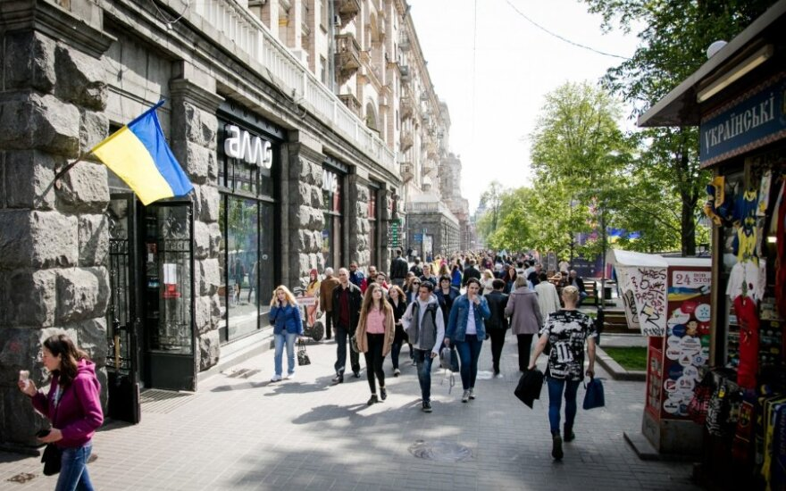 """""""Ukrstat"""": vartojimo kainų augimas Ukrainoje balandį sulėtėjo iki 12,2 proc."""