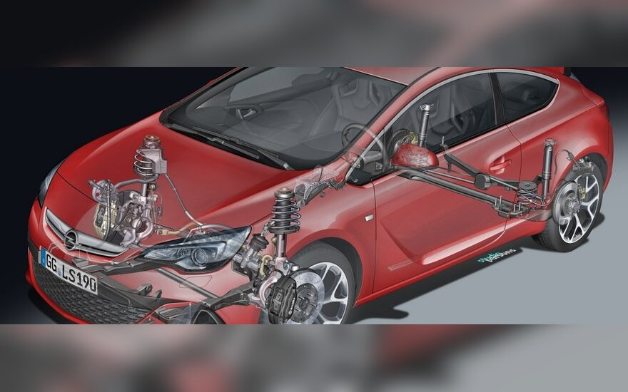 Opel Astra OPC važiuoklė
