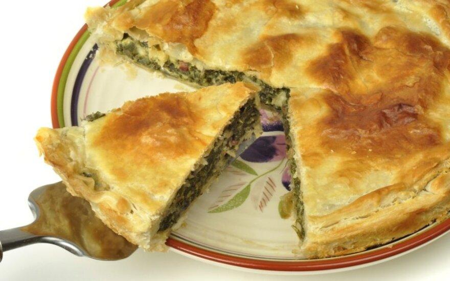 Pyragas su sūriu ir daržovėmis