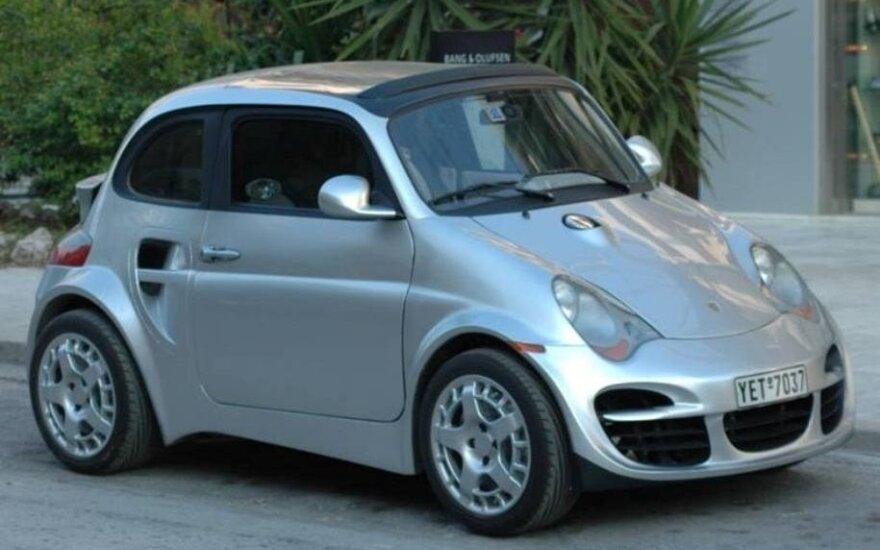 """""""Fiat 500"""" pagrindu bandytas sukurti """"Porsche 911"""""""