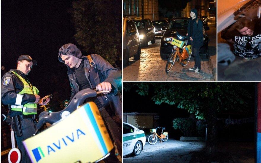 Reidas Vilniuje: girtas BMW vairuotojas žmonos bijo labiau nei kalėjimo, bėdų prisidarė ir nuomoto transporto mėgėjai