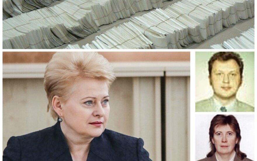 Dalia Grybauskaitė, teisėjai Dalia Stankevičiūtė ir Vitalijus Šidagis