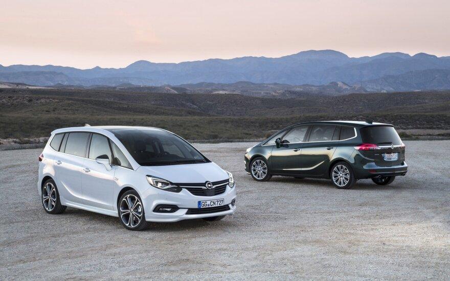 """Šiemet """"Opel Zafira"""" buvo švelniai atnaujintas"""