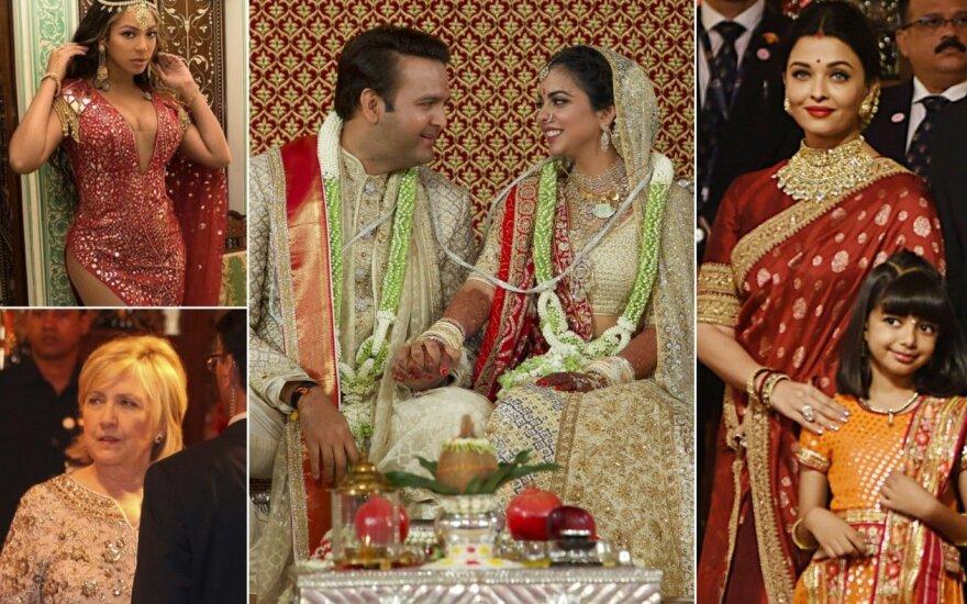 Turtingiausias Indijos vyras dukrai iškėlė 100 mln. vertės vestuves / Foto: Instagram, Scanpix