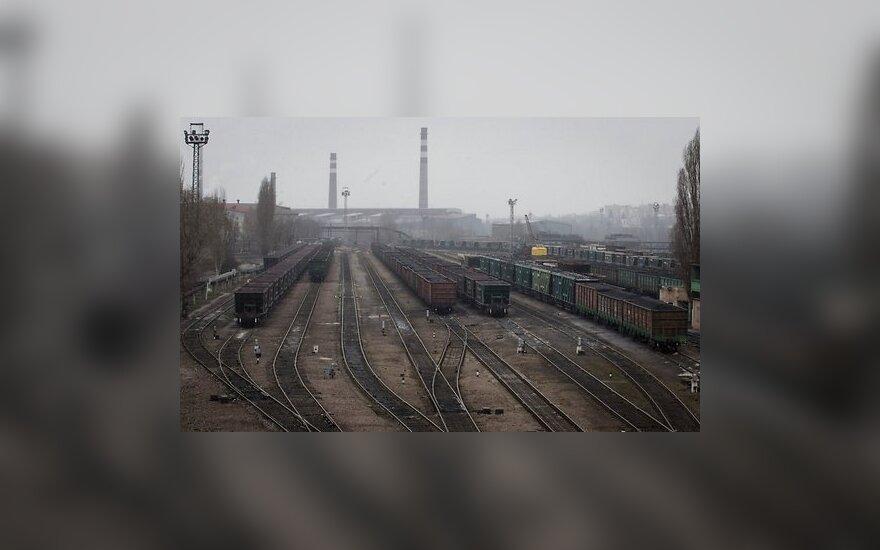 Donecke susprogdinta geležinkelio viaduko atrama