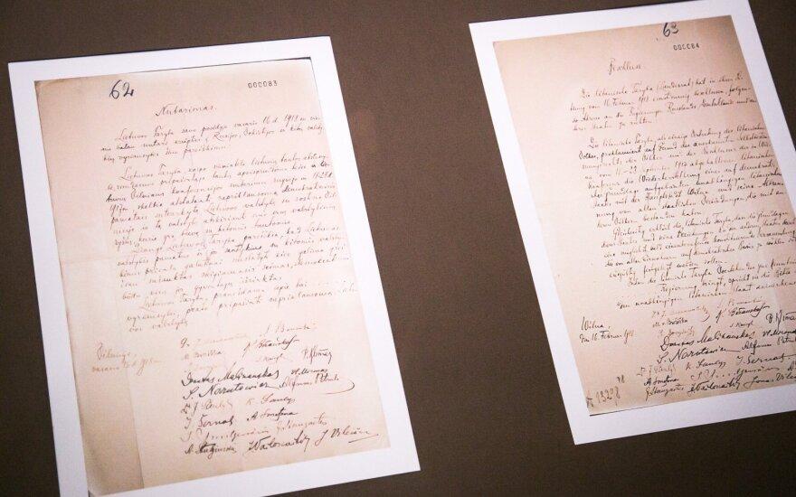 Lietuvos ir Vokietijos ministrai pasirašys sutartį dėl Vasario 16-osios akto perdavimo
