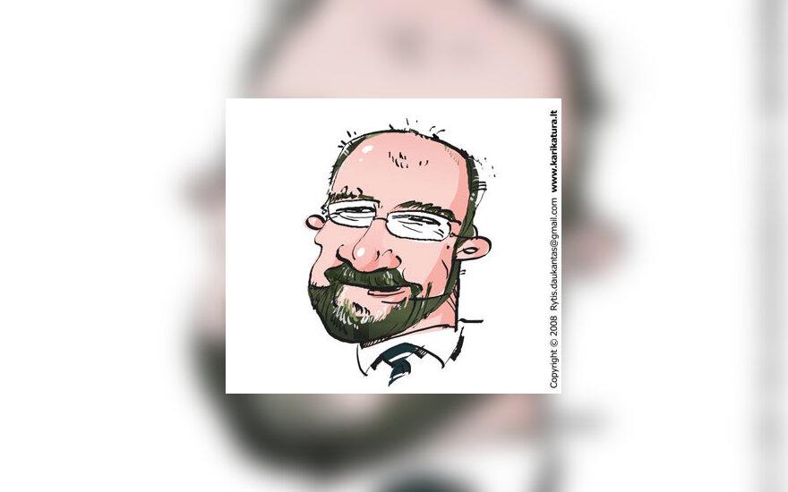 Aleksandras Abišala, karikatūra