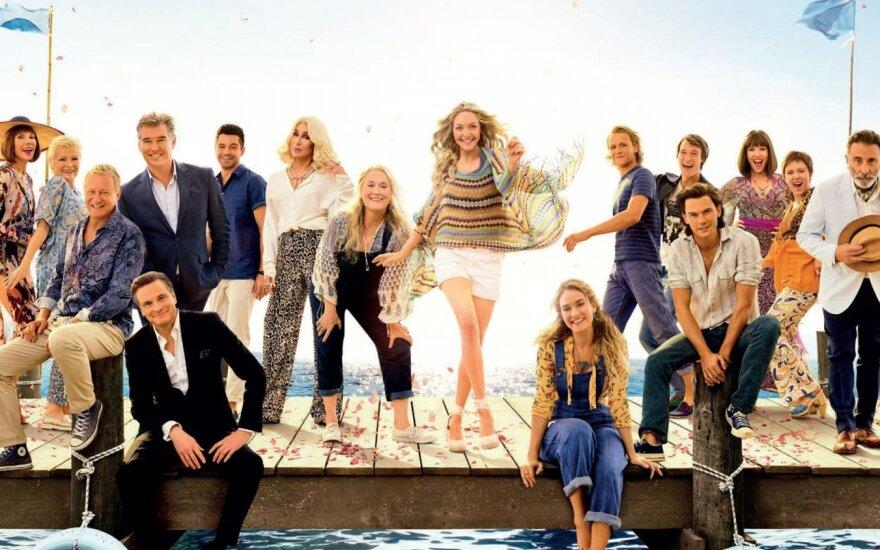 """Filmo """"Mamma Mia! Štai ir mes"""" plakatas"""